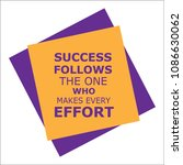 success follows one who.... | Shutterstock .eps vector #1086630062