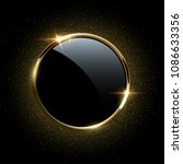golden sparkling ring with... | Shutterstock .eps vector #1086633356