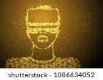 abstract shiny star pattern man ... | Shutterstock .eps vector #1086634052