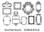a set of decorative frame... | Shutterstock . vector #108663416