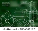 blueprints. mechanical drawings.... | Shutterstock .eps vector #1086641192