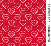 vector seamless pattern with... | Shutterstock .eps vector #1086652586