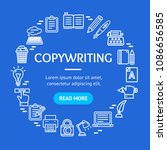 writer and copywriting signs... | Shutterstock .eps vector #1086656585
