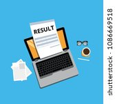 result out  exam  laptop | Shutterstock .eps vector #1086669518