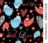 seamless jolly pattern with... | Shutterstock .eps vector #1086672128
