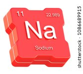 sodium element symbol from...   Shutterstock . vector #1086689915