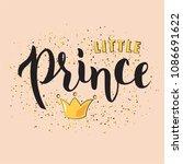 hand sketched little prince...   Shutterstock .eps vector #1086691622