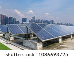 solar and modern city skyline | Shutterstock . vector #1086693725