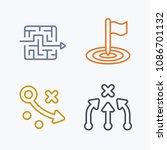 reaching goals   pastel stroke... | Shutterstock .eps vector #1086701132