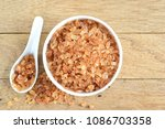 natural rock sugar in a white...   Shutterstock . vector #1086703358