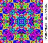 abstract kaleidoscope... | Shutterstock . vector #1086705302