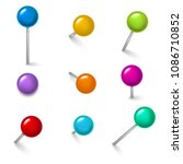 realistic detailed 3d colorful...   Shutterstock .eps vector #1086710852