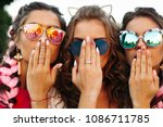 close up of three young girls... | Shutterstock . vector #1086711785