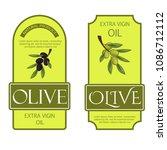olive oil labels vector... | Shutterstock .eps vector #1086712112