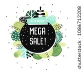 sale promotional banner with... | Shutterstock .eps vector #1086712208