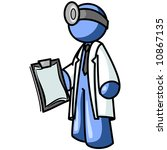 a blue man doctor with a... | Shutterstock .eps vector #10867135