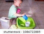 cute little asian 18 months old ...   Shutterstock . vector #1086722885
