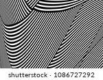 abstract op art pattern. lines...   Shutterstock .eps vector #1086727292