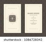 luxury business card template... | Shutterstock .eps vector #1086728342