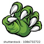 a scary monster or animal claw... | Shutterstock .eps vector #1086732722