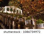 fireworks festival on hill top   Shutterstock . vector #1086734972