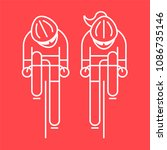 modern illustration of cyclist... | Shutterstock . vector #1086735146