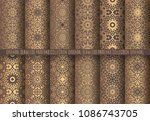 vector arabesque patterns.... | Shutterstock .eps vector #1086743705