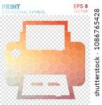 print polygonal symbol ... | Shutterstock .eps vector #1086765428
