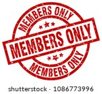 members only round red grunge... | Shutterstock .eps vector #1086773996