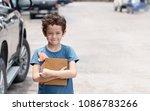 portrait of a schoolboy wears... | Shutterstock . vector #1086783266