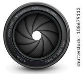 camera lens shutter  vector... | Shutterstock .eps vector #108679112