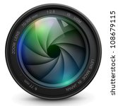 camera photo lens with shutter. | Shutterstock .eps vector #108679115