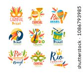 brazil  rio carnival logo... | Shutterstock .eps vector #1086793985