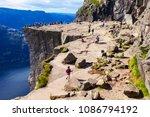 preikestolen or prekestolen or... | Shutterstock . vector #1086794192
