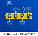 general data protection... | Shutterstock .eps vector #1086795392