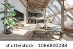 loft interior. interior design... | Shutterstock . vector #1086800288