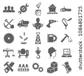 worker icon set vector. symbol... | Shutterstock .eps vector #1086801725