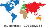 a minimalist vector of earth's... | Shutterstock .eps vector #1086802355