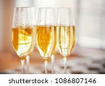 champagne glasses. party and... | Shutterstock . vector #1086807146