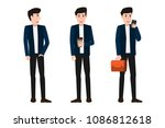 collection of businessman... | Shutterstock .eps vector #1086812618