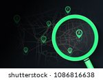 searching location on street... | Shutterstock .eps vector #1086816638