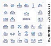buildings  architecture  ...   Shutterstock .eps vector #1086827915