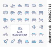 car   transportation   thin... | Shutterstock .eps vector #1086827918