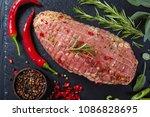 uncooked spicy pork meat... | Shutterstock . vector #1086828695
