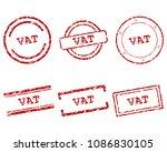 vat stamps on white | Shutterstock .eps vector #1086830105