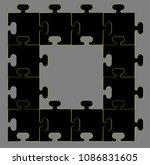 frame  puzzle  order | Shutterstock .eps vector #1086831605
