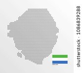 sierra leone map design with... | Shutterstock .eps vector #1086839288