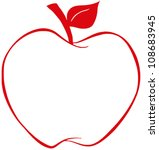 apple with red outline .vector...   Shutterstock .eps vector #108683945