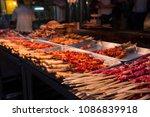 detail of lamb kebab in a...   Shutterstock . vector #1086839918