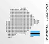 botsawana map design with flag... | Shutterstock .eps vector #1086840935